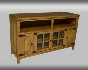 LT COM 8 Natural Hacienda TV Stand