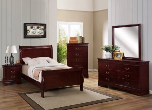 B3800 Cherry Louis Philippe Twin Bed